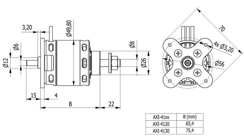 AXi 46 4120 Outrunner Brushless Motors V2