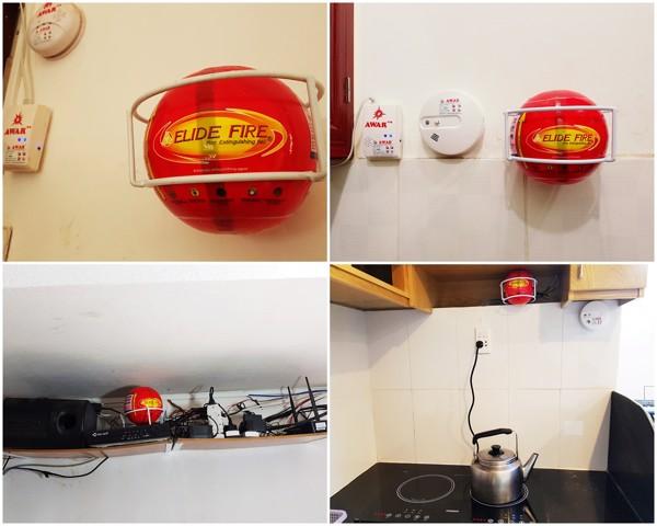 Thiết bị chữa cháy tự động dành cho thiết bị điện, bếp nấu ăn