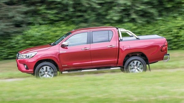 Toyota Hilux 2015 on the road