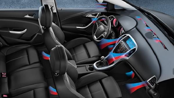 air circulation inside a car