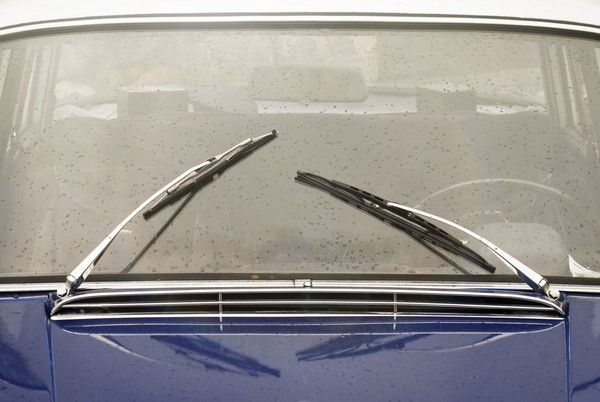 Old windshield wipers