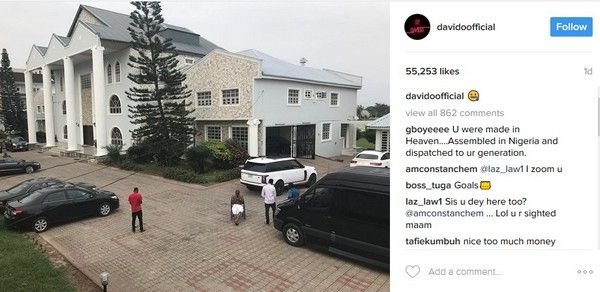 Davido's father's house