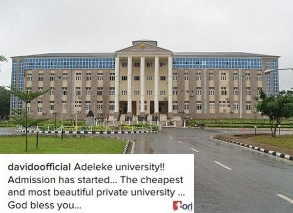 Babcock University which Davido graduated from