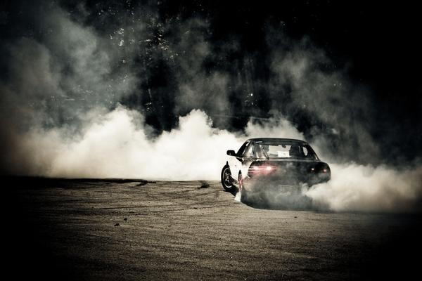 Car emiting smoke