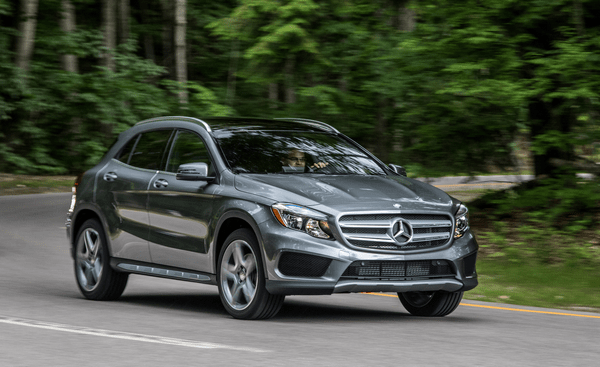 Angular front of the Mercedes-Benz GLA-Class