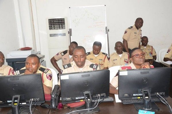 FRSC officers at work
