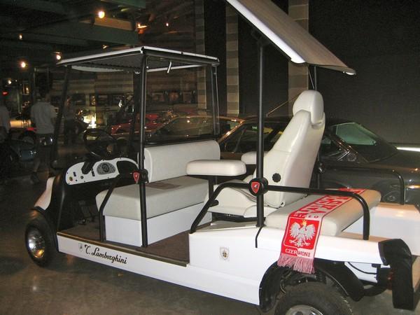 a Lamborghini white cart
