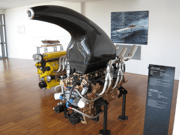 Powerboat engine made by Lamborghini