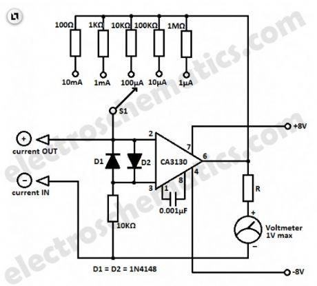 Ampere meter circuit diagram