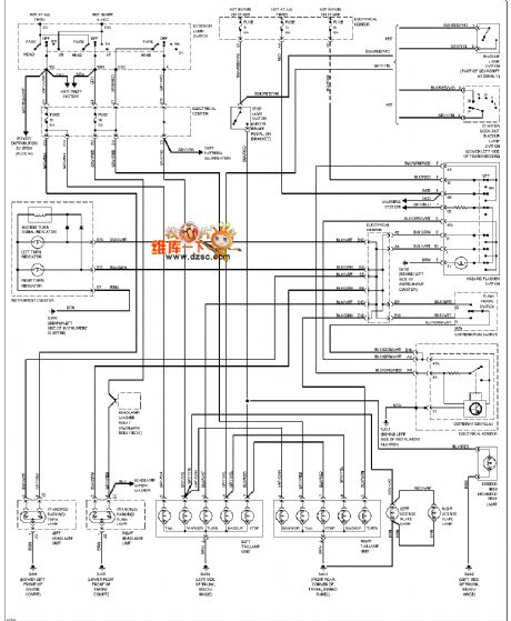 Mercedes-Benz 190E external light circuit diagram