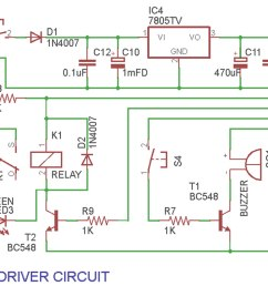a versatile industrial timer and real time keeper circuit diagram of the driver circuit [ 1412 x 793 Pixel ]