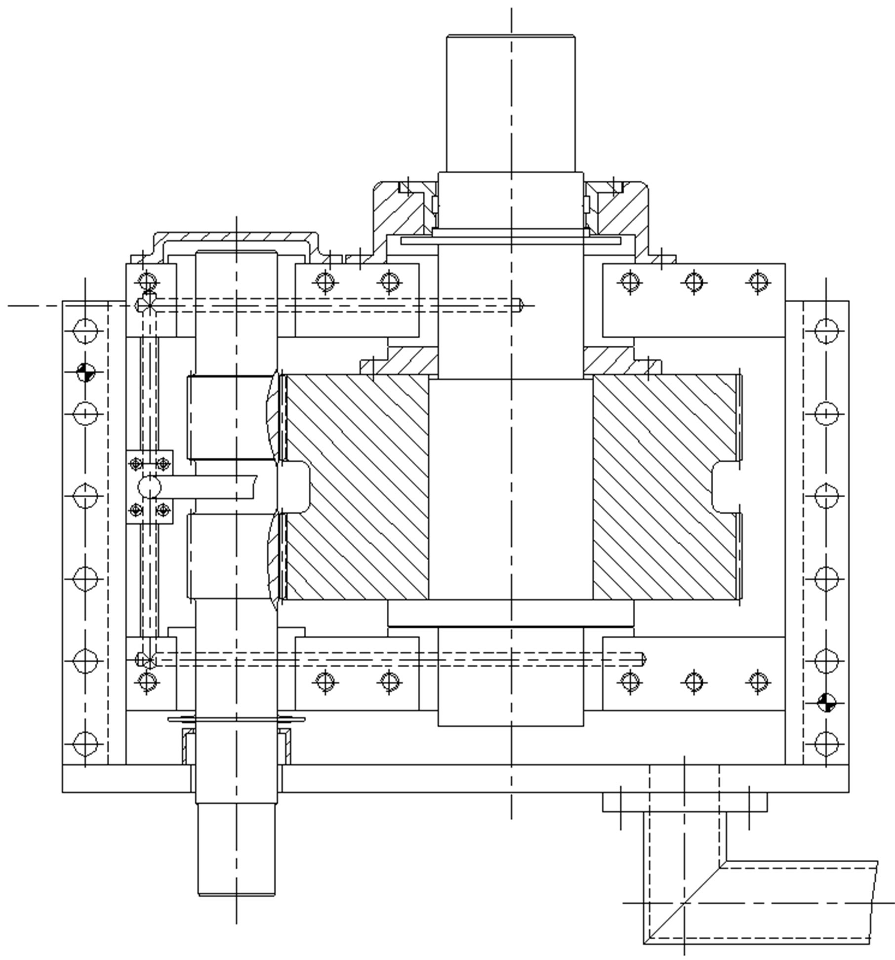 diagram for motor and gearbox