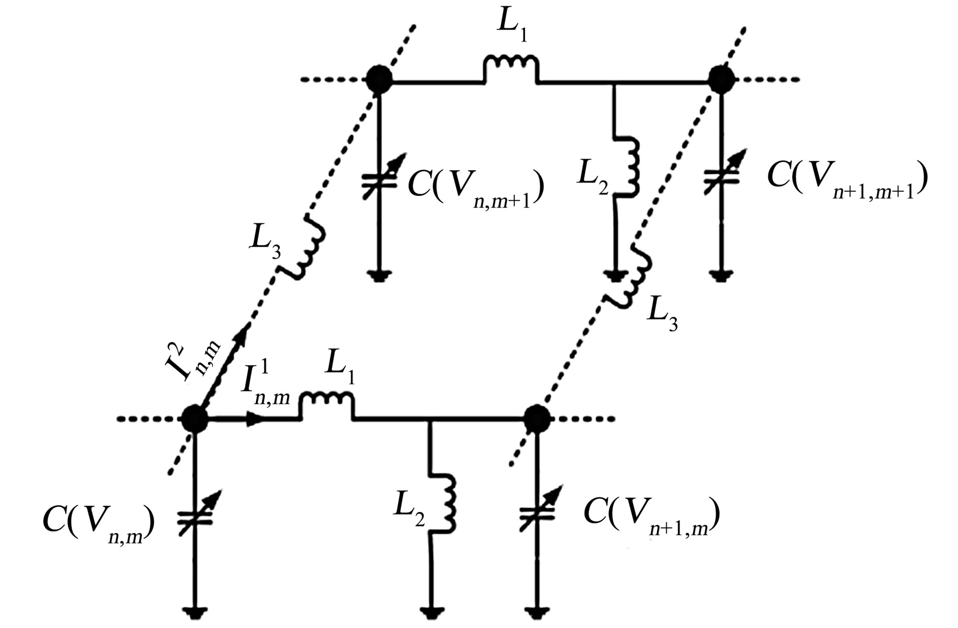 Transverse Stability In The Discrete Inductance Capacitance Electrical Network