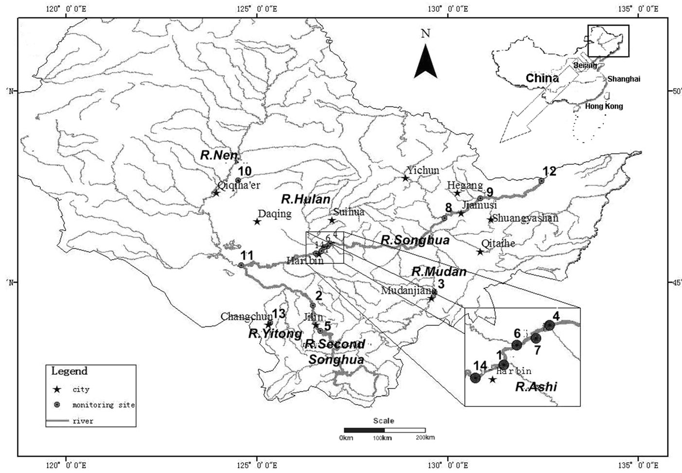 Water Quality Analysis of the Songhua River Basin Using