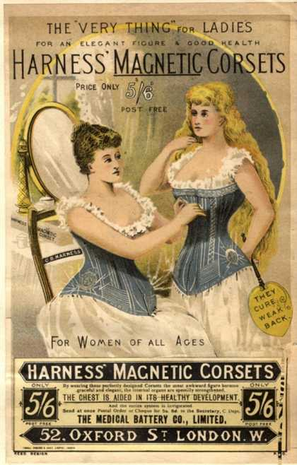 Corsets Girdles Magnetic Harness Underwear, UK (1890)