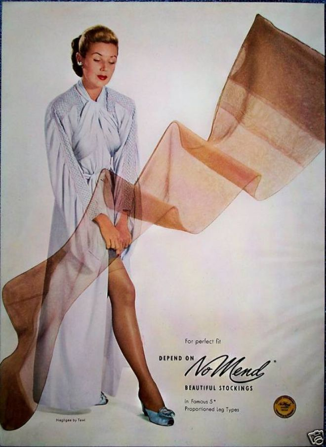 Image result for 1940s stockings ads