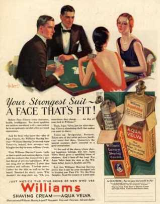Williams, Aftershave Bridge Playing Cards Games Mens, USA (1920)