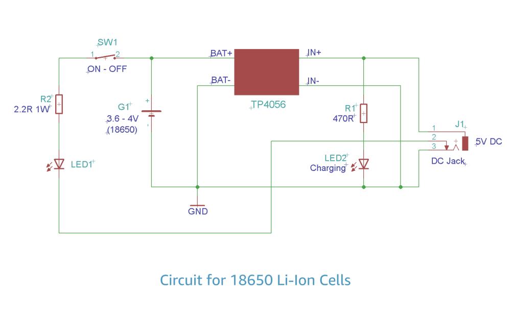 medium resolution of 18650 schematic diagram