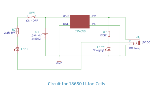 small resolution of 18650 schematic diagram