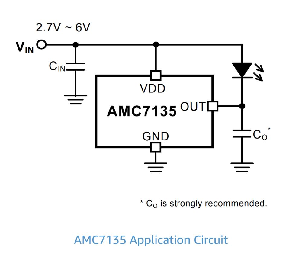 medium resolution of amc7135 led driver circuit