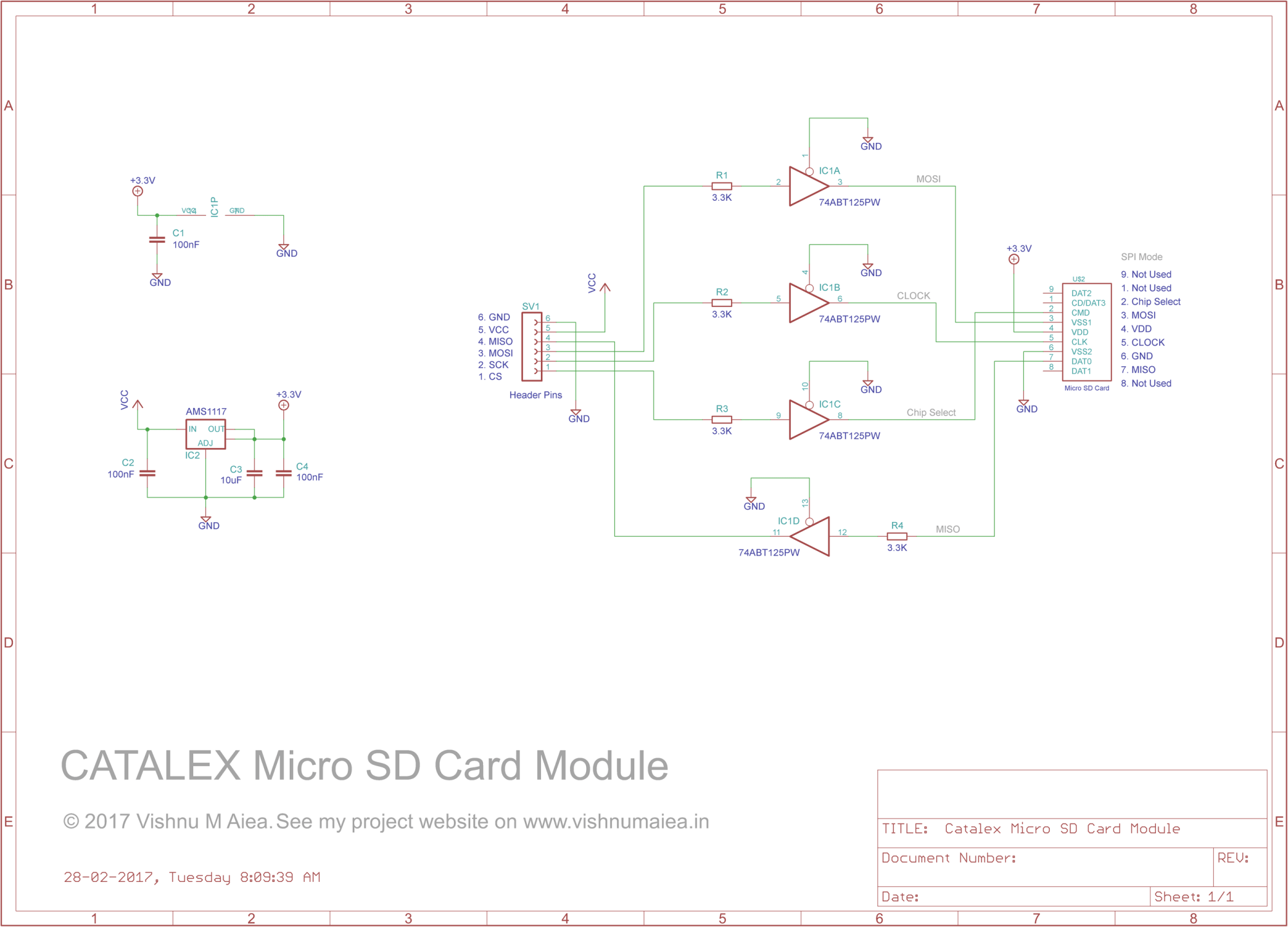 hight resolution of catalex micro sd card module schematic