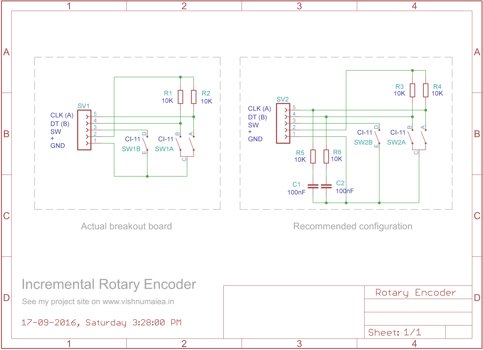 hight resolution of rotary encoder schematic incremental