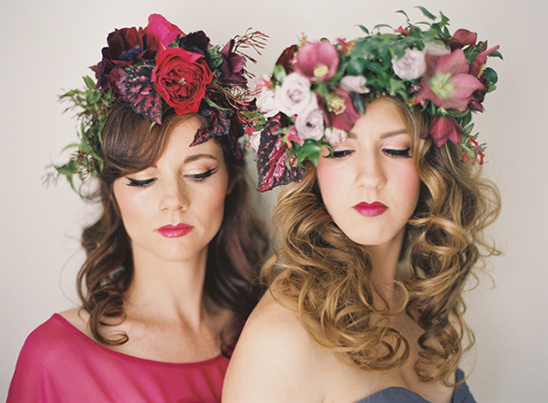 fresh floral headpieces