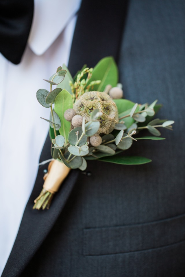DIY Greenery Boutonniere From MDs Florist