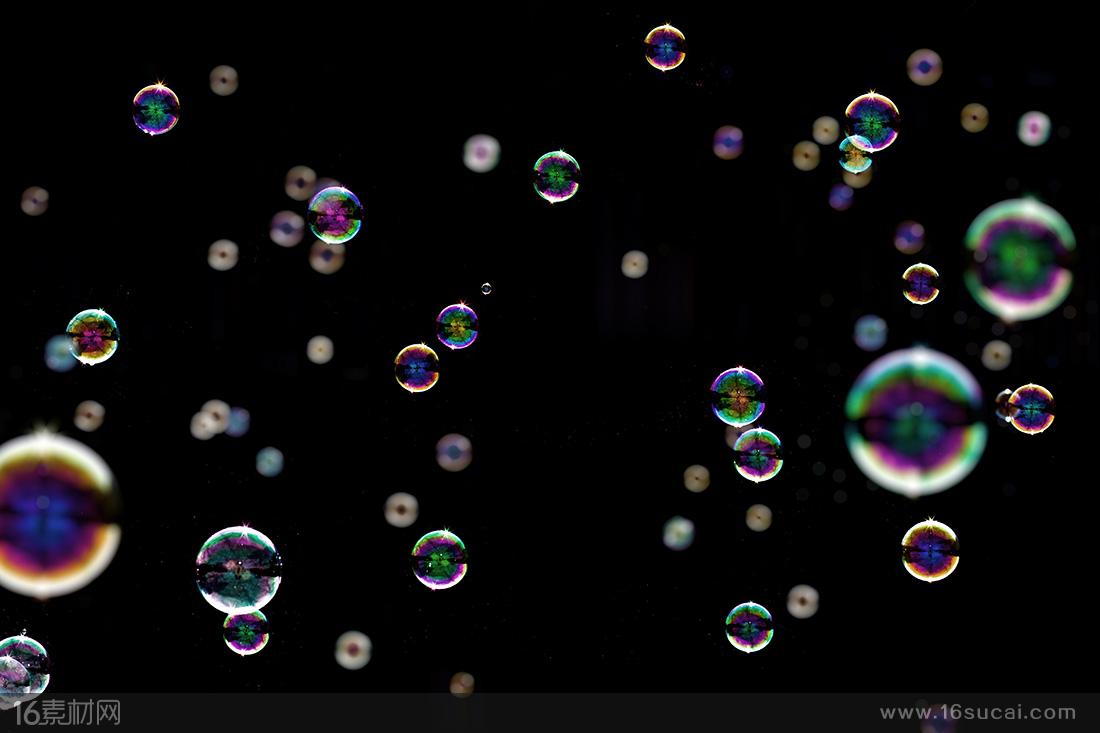炫彩唯美泡泡底紋背景高清圖片 - 素材中國16素材網