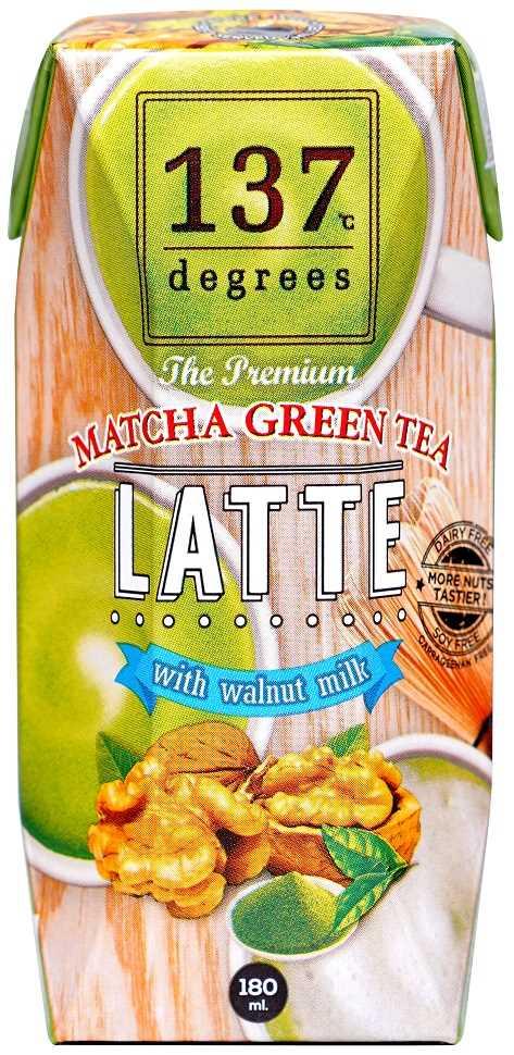 137°c Degrees Walnut Milk Matcha Green Tea 180ml--香港有機食品店 嚴選歐美產品 真正有機健康 | Organic Plus