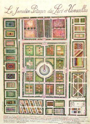 Bildergebnis für Plan of the Potager du Roi, the King's Kitchen Garden, at Versailles