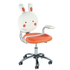 Kids Computer Chair Cb2 Dining Chairs Buy Synthetic Leather For Rabbit Cartoon Pattern