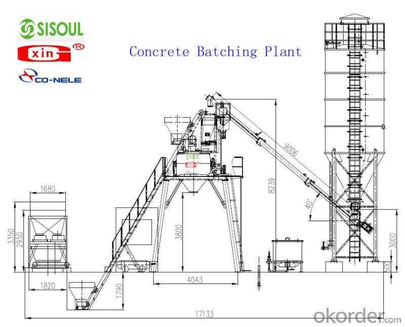 Buy HZS90 concrete batching plant Mixing Plant Price,Size