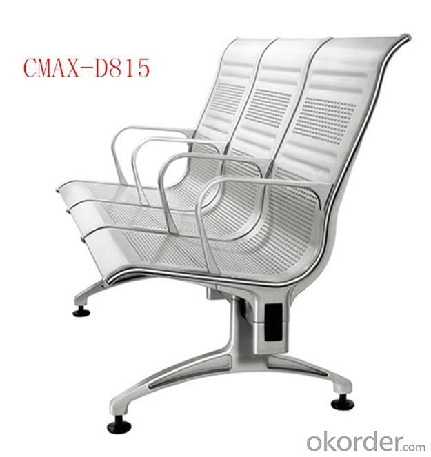 modern steel chair design chicco 360 high buy 3 seater stainless waiting cmax d815