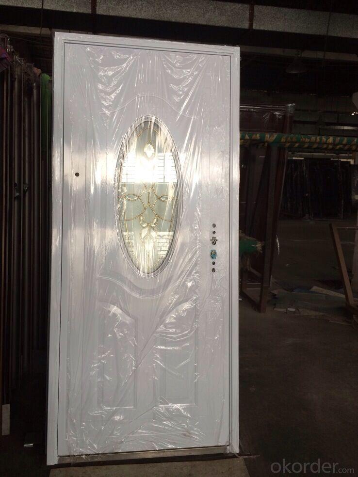 Buy Intime Steel Security Glass Exterior Metal Safety Door