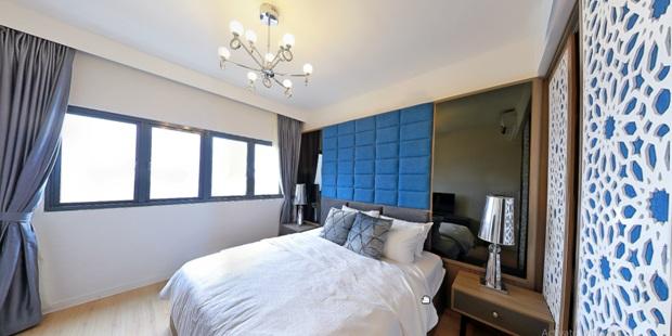 Phòng ngủ của căn hộ The Crown