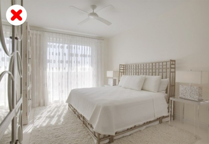 phòng ngủ toàn màu trắng