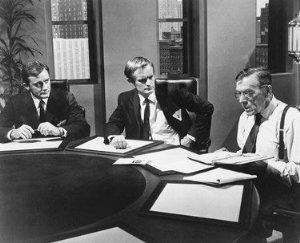 Robert Vaughn, David McCallum, Leo G. Carroll.