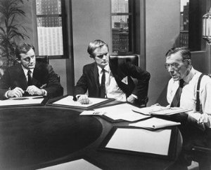 Robert Vaughn, David McCallum, Leo G. Carroll.