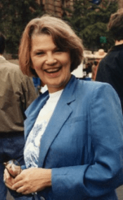 """Alice K. Turner in 1993 at """"New York Is Book Country."""" Photo by and copyright © Andrew Porter."""