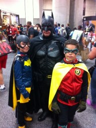 Bat Family, Michael, Samantha and David at SDCC.