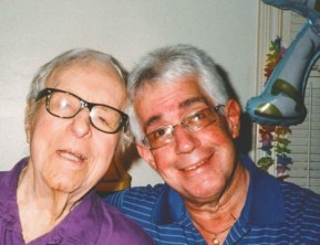 Ray Bradbury and Steve Vertlieb in 2011.