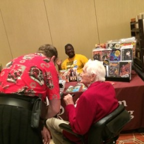 James Bacon, Bill Campbell and Dave Kyle at Readercon.