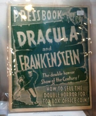 Press Book Dracula and Frankenstein SMALL