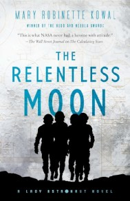 The Relentless Moon by Mary Robinette Kowal, art by Jamie Stafford-Hill using figures by Gregory Manchess