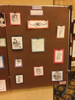 Sue Mason's panel in the Rotsler Award display at Loscon 41. Photo by Kenn Bates,