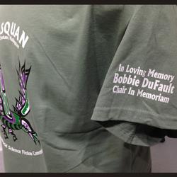 DuFault memorial t-shirt.