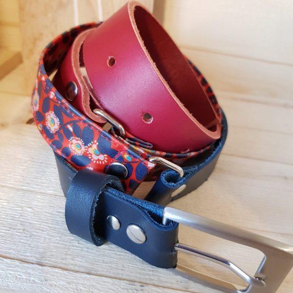 ceinture fleuri rouge