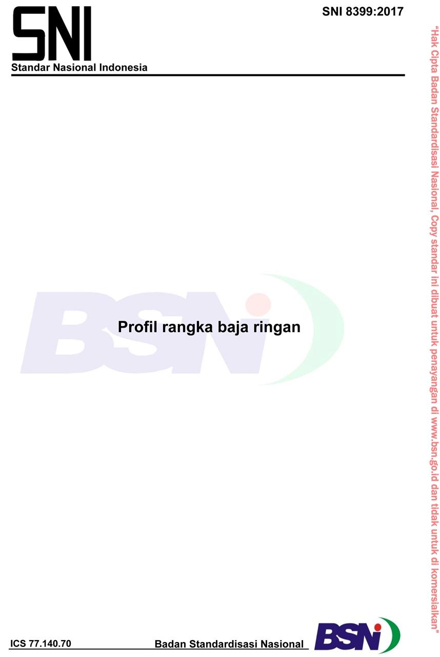 baja ringan pdf sni 8399 2017 profil rangka bambang dewasa alm