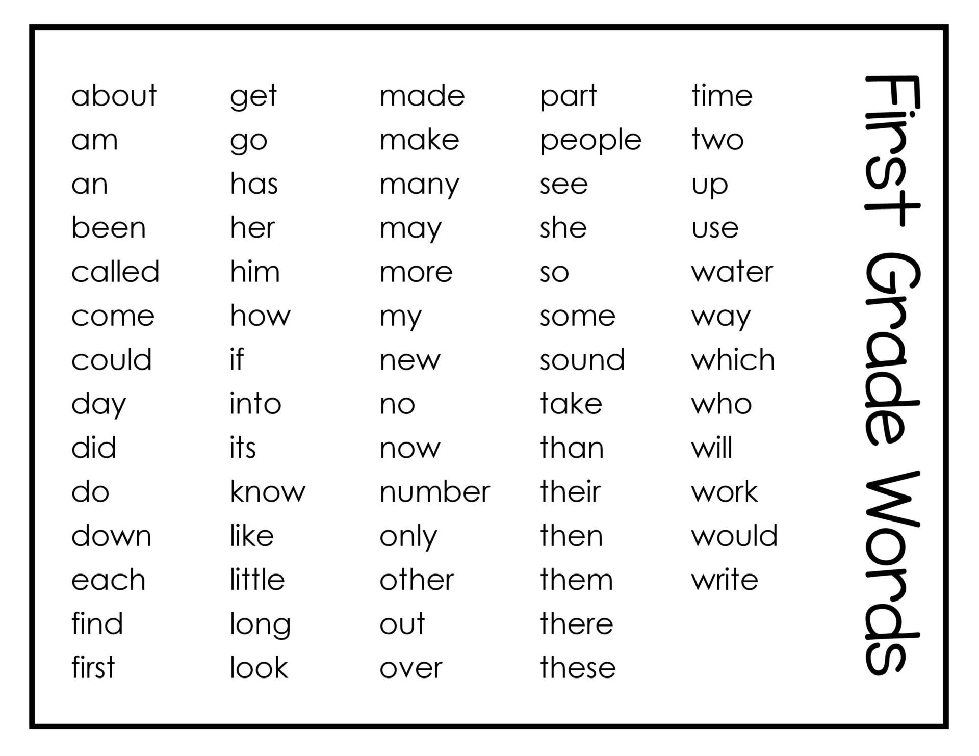 Worksheet Words For Said